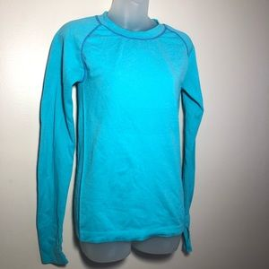 L/XL CLIMAWEAR Blue Runner Long Sleeve Activewear